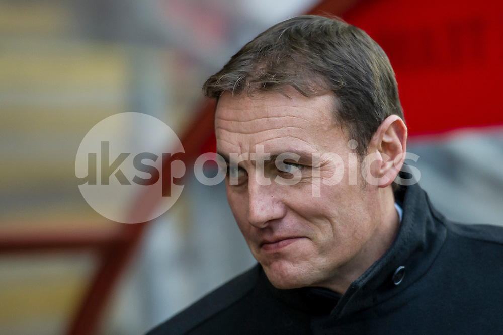 Ian Hendon manager of Leyton Orient during the Sky Bet League 2 match between Leyton Orient and AFC Wimbledon at the Matchroom Stadium, London, England on 28 November 2015. Photo by Salvio Calabrese.