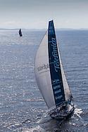 BRAZIL, Itajai. 6th April 2012. Volvo Ocean Race, Leg 5, Auckland-Itajai. Telefonica chases Puma Ocean Racing powered by Berg.
