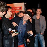 NLD/Hilversum/20130109 - Uitreiking 100% NL Awards 2012, Pascal Jacobs in gesprek met Simon Keizer