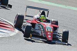 Samstagsieger Mick Schumacher belegt nach einer Durchfahrtsstrafe im ersten Sonntagsrennen nur Platz 15. beim Formel 4 Rennen auf dem Nürburgring / 070816<br /> <br /> *** ADAC Formula Four championship at Nurburgring on August 7, 2016 in Nurburg, Germany ***
