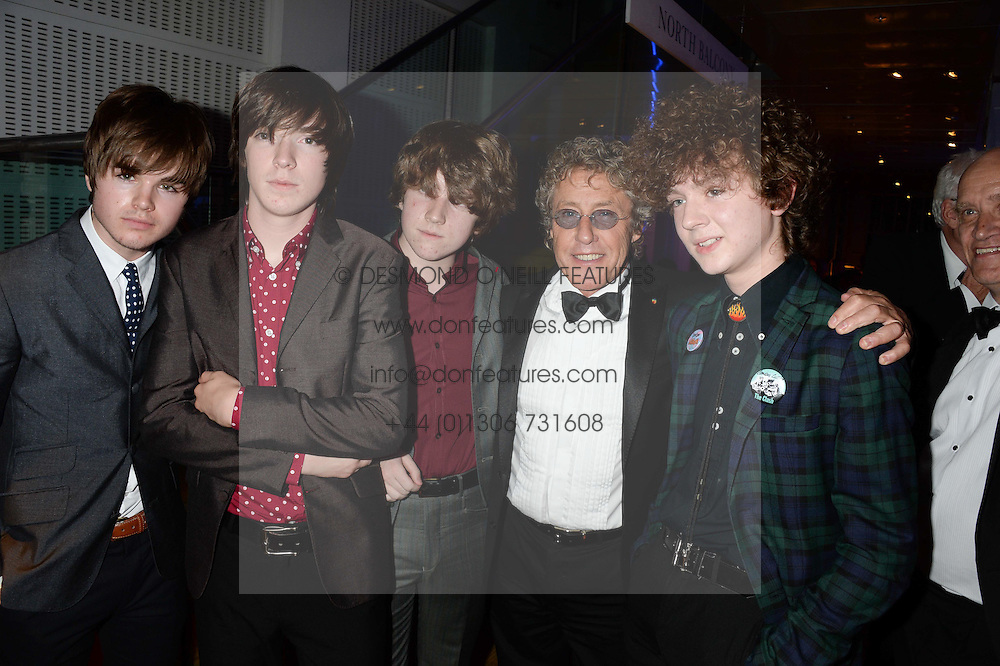 Roger Daltrey (2R) and poses with Evan Walsh, Josh McClorey, Ross Farrelly and Pete O'Hanlon of The Strypes at the GQ Men of The Year Awards 2013 in association with Hugo Boss held at the Royal Opera House, London on 3rd September 2013.