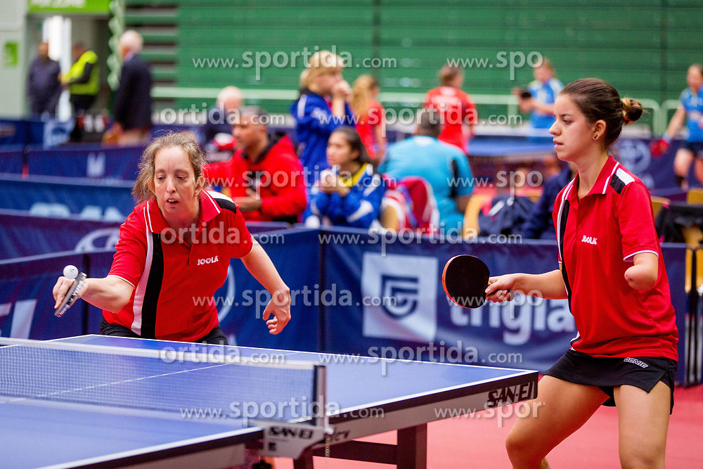 HUNGARY (ARLOY Zsofia and BICSAK Bettina) during day 4 of 15th EPINT tournament - European Table Tennis Championships for the Disabled 2017, at Arena Tri Lilije, Lasko, Slovenia, on October 1, 2017. Photo by Ziga Zupan / Sportida