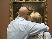 two people looking at a painting National Gallery of Art Washington DC USA