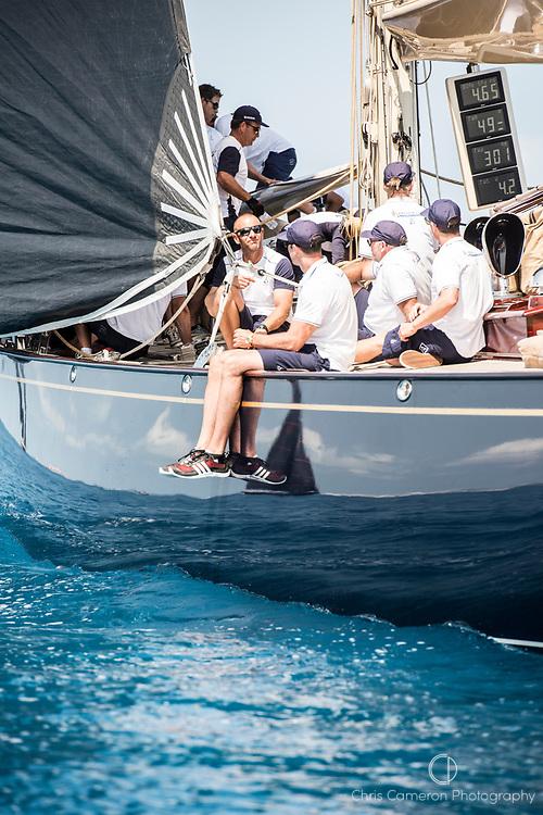 Bermuda, 16th June 2017. America's Cup J Class regatta. Velsheda JK7.