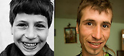 Catalin Cogalniceanu at the orphanage in Porpricani in 1995 when he was 12 and in 2008, in a small room he rented which used to be in a pigsty. His dream was to go and work in Italy where he might be today.