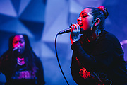 KayelaJ and Raquel Divar playing Girl Fest 2019 at Holocene in Portland, OR. Photo by Jason Quigley