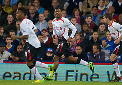 05.05.2014, Selhurst Park, London, ENG, Premier League, Crystal Palace vs FC Liverpool, 37. Runde, im Bild Liverpool's Daniel Sturridge celebrates scoring the second goal against Crystal Palace // during the English Premier League 37th round match between Crystal Palace and Liverpool FC at the Selhurst Park in London, Great Britain on 2014/05/05. EXPA Pictures © 2014, PhotoCredit: EXPA/ Propagandaphoto/ David Rawcliffe<br /> <br /> *****ATTENTION - OUT of ENG, GBR*****