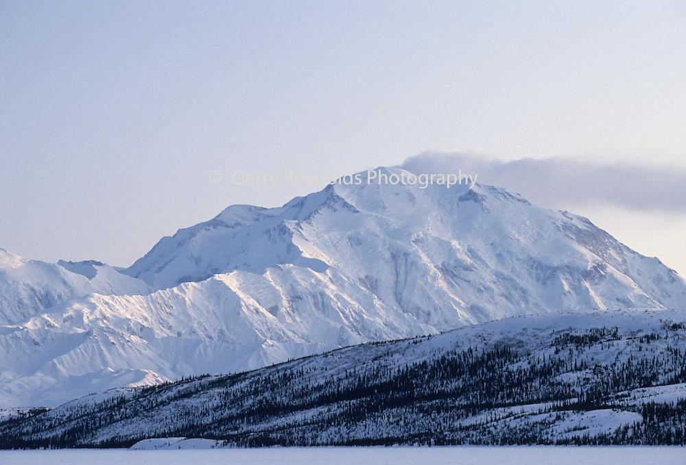 Mount McKinley, Wonder Lake, Sunset, Winter, Denali National Park, Alaska