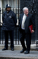 © London News Pictures. 30/10/2012. London, UK.      Secretary of State for Transport Patrick McLoughlin MP Leaving 10 Downing street after a cabinet meeting on October 10, 2012. Photo credit: Ben Cawthra/LNP