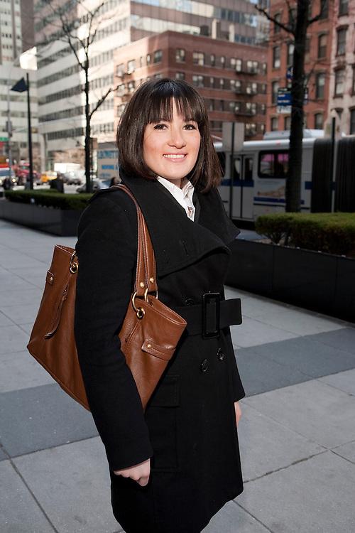 Nazli Oguzsimsaroglu en route to a job interview in NYC, 3/25/09.