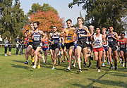Nov 9, 2018; Sacramento, CA, USA; <br /> Nick Hauger (317), Michael Somers (325) and Logan Orndorf (320) of Portland, Jack Rowe (400) of San Francisco and Carlos Villarreal (24) of Arizona lead the men's race during the NCAA West Regional at Haggin Oaks Golf Course. Hauger won in 29:42