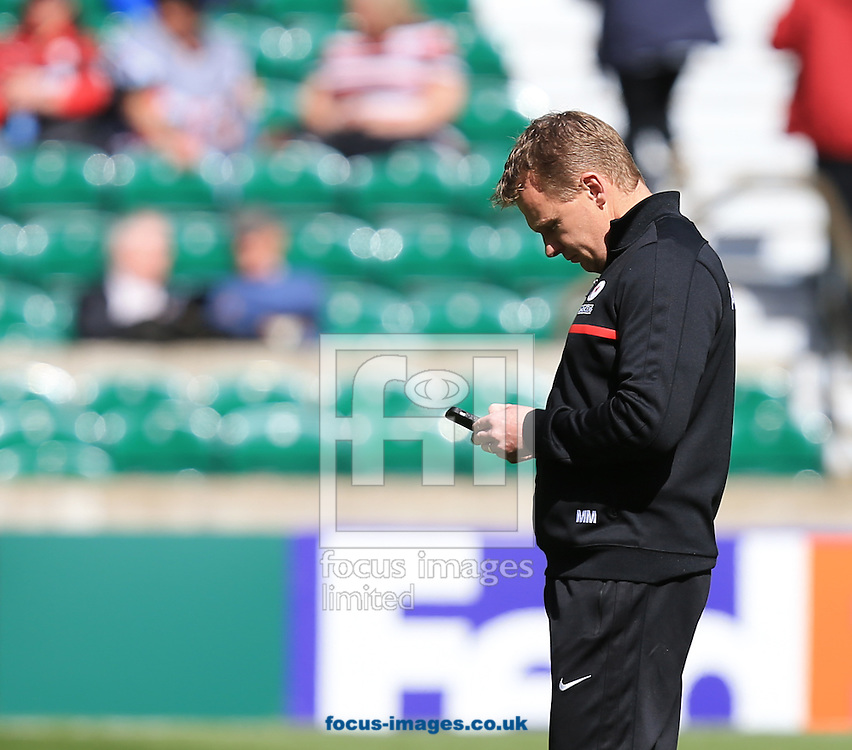 Mark McCall Saracens Director of rugby before the Heineken Cup Semi-Final at Twickenham Stadium, Twickenham<br /> Picture by Michael Whitefoot/Focus Images Ltd 07969 898192<br /> 26/04/2014