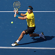 Rafael Nadal, Spain, in action against Juan Martin Del Potro, Argentina, during  the US Open Tennis Tournament at Flushing Meadows, New York, USA, on Sunday, September 13, 2009. Photo Tim Clayton.