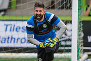 Forest Green Rovers goalkeeper Sam Russell(23) during the EFL Sky Bet League 2 match between Forest Green Rovers and Accrington Stanley at the New Lawn, Forest Green, United Kingdom on 30 September 2017. Photo by Shane Healey.