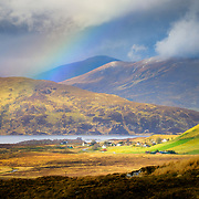 Rainbow over the idyllic wee town of Elphin