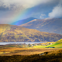 Rainbow over the idyllic wee town of Elphin