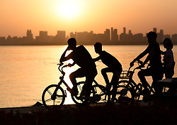 April 25, 2017 - Wuhan, Wuhan, China - Wuhan, CHINA-April 25 2017: (EDITORIAL USE ONLY. CHINA OUT)..Shared bikes can be seen everywhere in Wuhan, central China's Hubei Province, April 25th, 2017. (Credit Image: © SIPA Asia via ZUMA Wire)