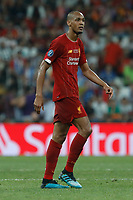 ISTANBUL, TURKEY - AUGUST 14: Fabinho of Liverpool looks on during the UEFA Super Cup match between Liverpool and Chelsea at Vodafone Park on August 14, 2019 in Istanbul, Turkey. (Photo by MB Media/Getty Images)