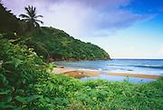 6212-1013 ~ Copyright: George H. H. Huey ~ The beach at Little Englishman's Bay, near the village of Castara. Caribbean coast of the island of Tobago. Trinidad and Tobago. Caribbean.