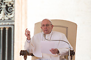 Pope Francis delivers his message during his weekly general audience, at the Vatican, Wednesday, March 14, 2018.