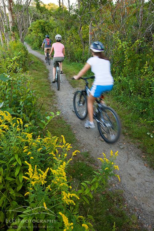 Biking at Odiorne State Park in Rye, New Hampshire.