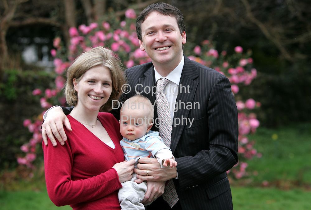 28/3/2006.Brian and Tara McGee pictured at home in Waterford with Eoin who will be one on the 10th of April..Picture Dylan Vaughan.