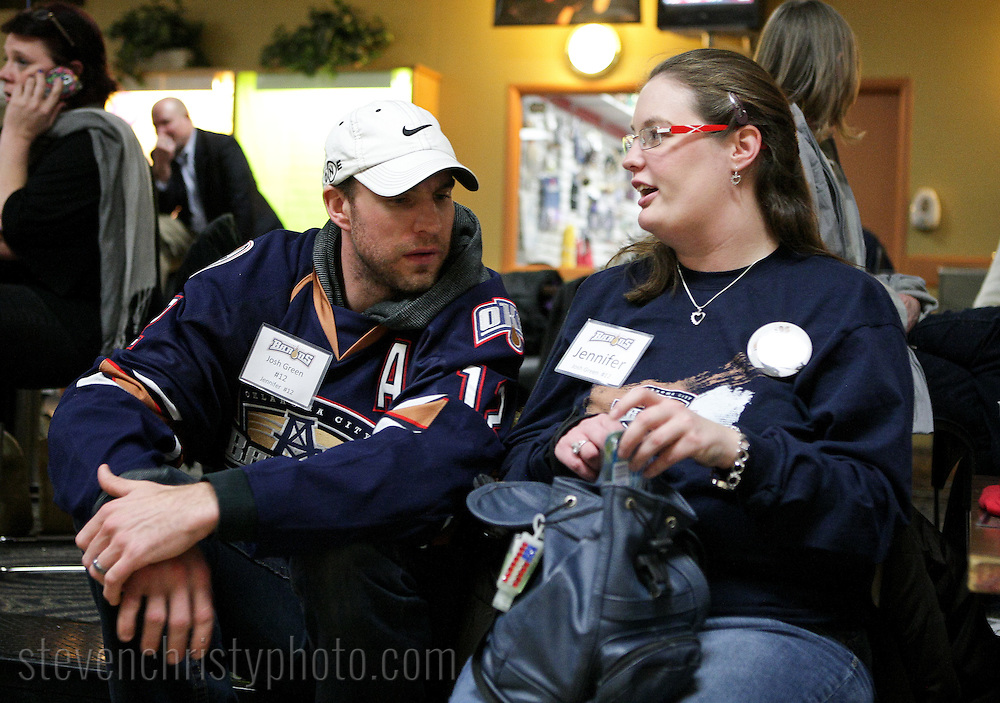 January 25, 2012: The Oklahoma City Barons bowl with the Barons Buddies at AMF Sunny Lanes in Del City.