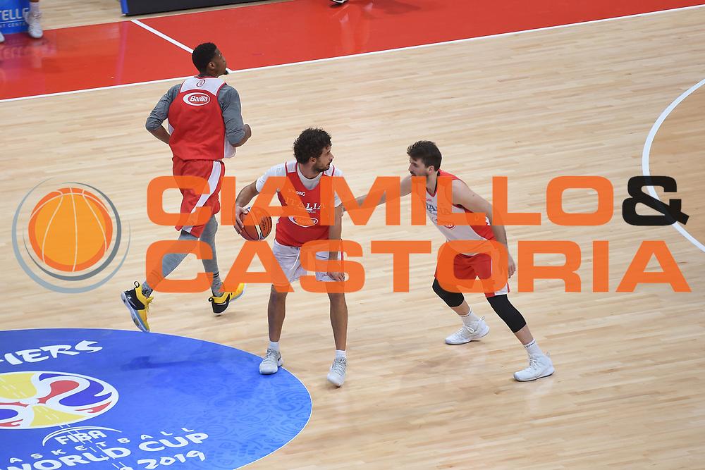 Vitali Luca, Filloy Ariel<br /> Nazionale Senior maschile<br /> Allenamento<br /> World Qualifying Round 2019<br /> Bologna 12/09/2018<br /> Foto  Ciamillo-Castoria / Giuliociamillo