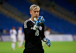 ASTANA, KAZAKHSTAN - Sunday, September 17, 2017: Kazakhstan's goalkeeper Oksana Zheleznyak during the FIFA Women's World Cup 2019 Qualifying Round Group 1 match between Kazakhstan and Wales at the Astana Arena. (Pic by David Rawcliffe/Propaganda)