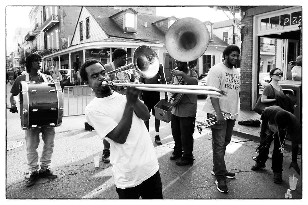 One of the many Second Line Bands in The French Quarter.