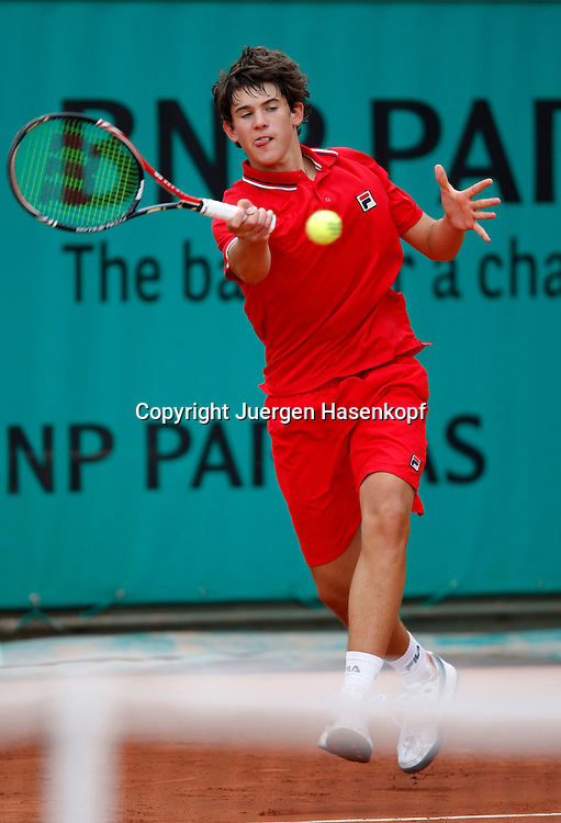French Open 2010, Roland Garros, Paris, Frankreich,Sport, Tennis, ITF Grand Slam Tournament, ..Junioren Match, Dominic Thiem (AUT) ..Foto: Juergen Hasenkopf..