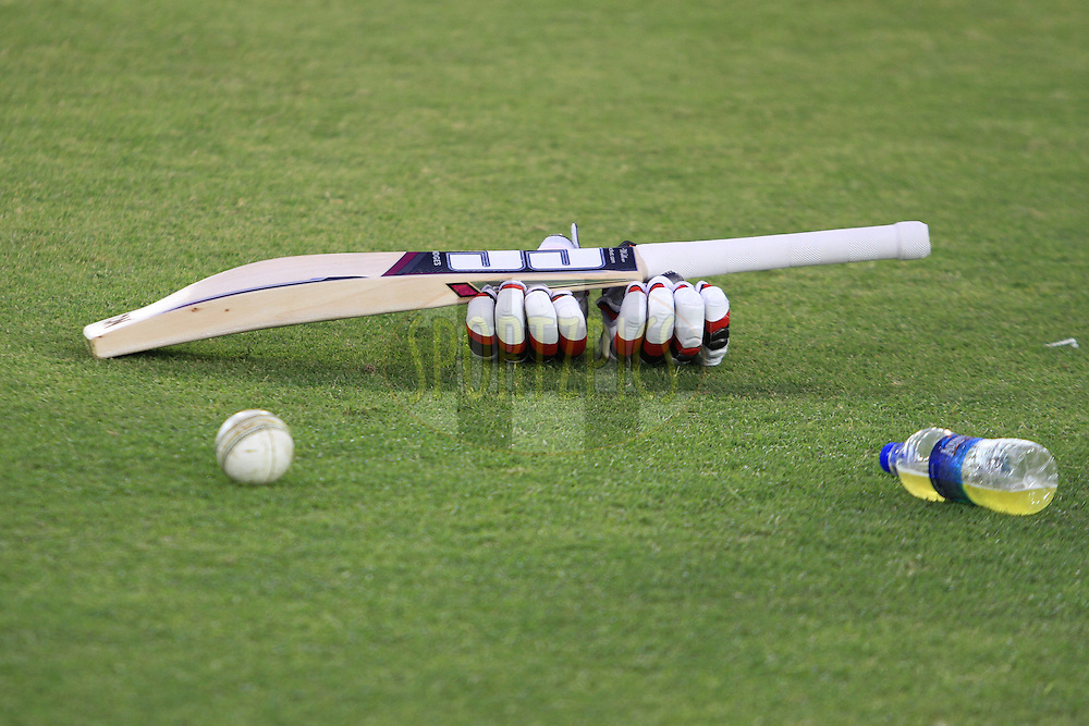 Bat Ball and Glubs during match 39 of the Vivo Indian Premier League ( IPL ) 2016 between the Kings XI Punjab and the Royal Challengers Bangalore held at the IS Bindra Stadium, Mohali, India on the 9th May 2016<br /> <br /> Photo by Arjun Singh / IPL/ SPORTZPICS
