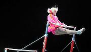 Sep 21, 2008; San Jose, CA, USA; Vladimir Sizov performs on the uneven bars during the 2008 Tour of Gymnastics Superstars post-Beijing Olympic tour at HP Pavilion in San Jose, CA. Mandatory Credit: Kyle Terada-Terada Photo