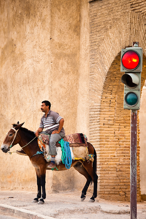 Man on his horse, Fez, Morocco.