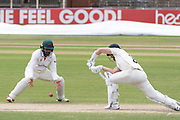 Hassan Azad fielding close in during the Bob Willis Trophy match between Lancashire County Cricket Club and Leicestershire County Cricket Club at Blackfinch New Road, Worcester, United Kingdom on 4 August 2020.