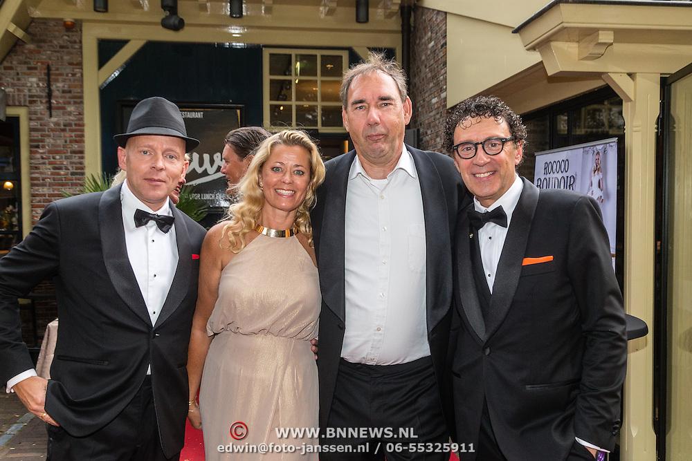 NLD/Laren/20160925 - Frank Masmeijer in Laren voor opname nieuw tv programma, Peter Douglas, Woter de Wild, Frank Masmeijer