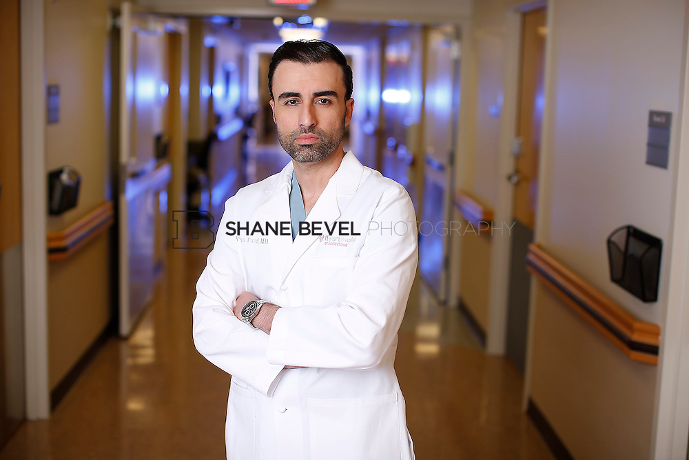 8/11/16 3:48:18 PM --  Dr. Poorya Fazel poses for a portrait.<br /> <br /> Photo by Shane Bevel