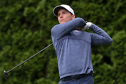June 23, 2018 - Cromwell, Connecticut, United States - Russell Henley tees off the 9th hole during the third round of the Travelers Championship at TPC River Highlands. (Credit Image: © Debby Wong via ZUMA Wire)