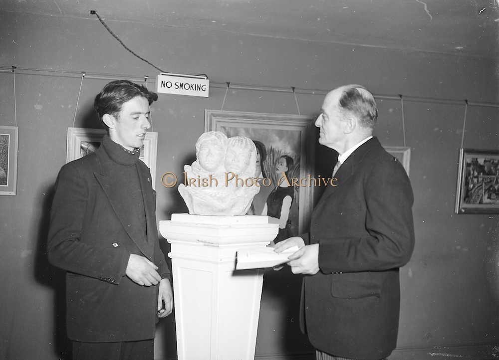 28/02/1955 <br /> 02/28/1955<br /> 28 February 1955<br /> Exhibition of Painting and Sculptures by Edward Delaney at the Little Theatre, Brown Thomas &amp; Son, Grafton Street, Dublin.
