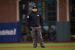SAN FRANCISCO, CA - APRIL 21:  MLB umpire Manny Gonzalez #79 stands on the field during the first inning between the San Francisco Giants and the Los Angeles Dodgers at AT&T Park on April 21, 2015 in San Francisco, California.  The San Francisco Giants defeated the Los Angeles Dodgers 6-2. (Photo by Jason O. Watson/Getty Images) *** Local Caption *** Manny Gonzalez