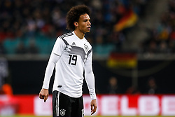 November 16, 2018 - Leipzig, Germany - Leroy Sane of Germany looks on during the international friendly match between Germany and Russia on November 15, 2018 at Red Bull Arena in Leipzig, Germany. (Credit Image: © Mike Kireev/NurPhoto via ZUMA Press)