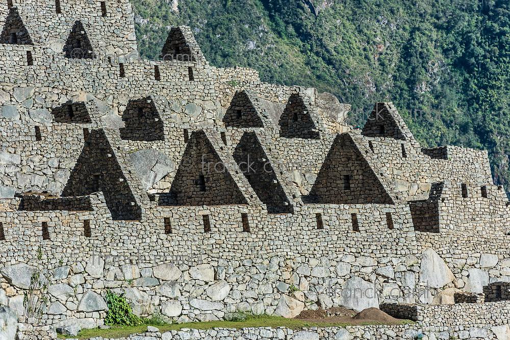 Palace of the princess Machu Picchu, Incas ruins in the peruvian Andes at Cuzco Peru