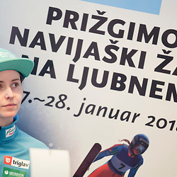 20180124: SLO, Nordic Ski - Press conference of Slovenian Women Ski Jumping team before Ljubno 2018