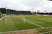 The Cherry Red Records Stadium, Kingston, before the Sky Bet League 2 match between AFC Wimbledon and Oxford United at the Cherry Red Records Stadium, Kingston, England on 27 February 2016. Photo by David Charbit.