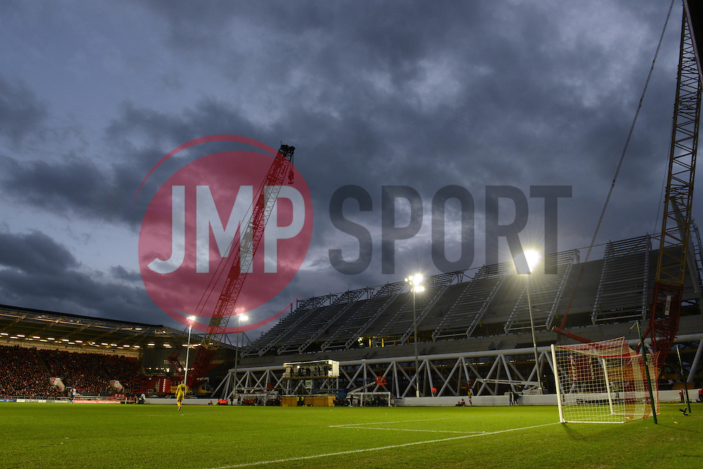 A general view of the West Stand in development - Mandatory byline: Dougie Allward/JMP - 05/12/2015 - Football - Ashton Gate - Bristol, England - Bristol City v Blackburn Rovers - Sky Bet Championship