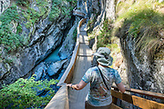 Gorner Gorge (Gornerschlucht). Zermatt, Switzerland, the Alps, Europe.