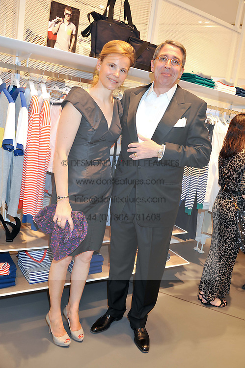 ARNAUD & BENEDICTE de PUYFONTAINE at a party to celebratethe opening of the Lacoste Flagship Store at 44 Brompton Road, Knightsbridge, London on 20th June 2012.