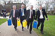 Marking World Water Day, over 40 MP's walked for water at Westminster, London at an event organised by WaterAid and Tearfund. Globally hundreds of thousands of people took part in the campaign to raise awareness of the world water crisis.