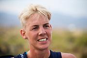 Iris Slappendel tijdens de zesde en laatste racedag. Het Human Power Team Delft en Amsterdam, dat bestaat uit studenten van de TU Delft en de VU Amsterdam, is in Amerika om tijdens de World Human Powered Speed Challenge in Nevada een poging te doen het wereldrecord snelfietsen voor vrouwen te verbreken met de VeloX 7, een gestroomlijnde ligfiets. Het record is met 121,81 km/h sinds 2010 in handen van de Francaise Barbara Buatois. De Canadees Todd Reichert is de snelste man met 144,17 km/h sinds 2016.<br /> <br /> With the VeloX 7, a special recumbent bike, the Human Power Team Delft and Amsterdam, consisting of students of the TU Delft and the VU Amsterdam, wants to set a new woman's world record cycling in September at the World Human Powered Speed Challenge in Nevada. The current speed record is 121,81 km/h, set in 2010 by Barbara Buatois. The fastest man is Todd Reichert with 144,17 km/h.
