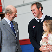 "REPRO FREE<br /> His Royal Highness the Duke of Kent talking to RNLI volunteer James Grennan and his daughter Maebh on a visit to Kinsale RNLI Lifeboat Station on Wednesday.<br /> Picture. John Allen<br /> <br /> Volunteer crew members of Kinsale RNLI  gave a warm welcome the His Royal Highness the Duke of Kent who made his first visit to the busy West Cork lifeboat station today (Wednesday 31 May).  The Duke has been Patron and President  of the RNLI,  the charity that saves lives at sea, since 1969.   He spent almost an hour meeting volunteers and hearing details of successful rescues by the Kinsale volunteers, including the Sean Anthony in April 2016 when three Portuguese fishermen were saved from a sinking trawler, and the evacuation of 30 people from the sailing vessel Astrid that foundered outside Kinsale Harbour in July 2013.  The Duke was introduced to Christopher Keane Hopcraft, one of the young people rescued from the Astrid, and Mrs Janet Rutherford who received medical attention and was brought to safety after she was injured on board a yacht.  Members of the local community were also invited to meet the Duke, including representatives of Kinsale's fishing fleet, along with RNLI volunteers from West Cork's newest station in Union Hall and representatives of the GAA, partners in the RNLI Respect the Water campaign that aims to halve the number of coastal deaths by 2024.<br /> <br /> The Duke said:<br /> <br /> Kinsale RNLI Lifeboat Operations Manager, John O'Gorman, said:  ""It was a honour and a privilege for us to meet the Duke who has provided unwavering support to the RNLI for almost half a century.  Our station on the Wild Atlantic Way is a long way from the RNLI HQ in Poole so we rarely get the opportunity to meet someone so close to the heart of the charity.  In that time he has visited the vast majority of lifeboat stations and we are delighted he chose to add Kinsale to that list.  He showed a great knowledge and understanding of our lifesaving work and <br /> sometimes being so on the coalface"